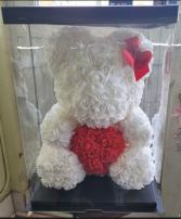 Rose Teddy Bear Floral Arrangement
