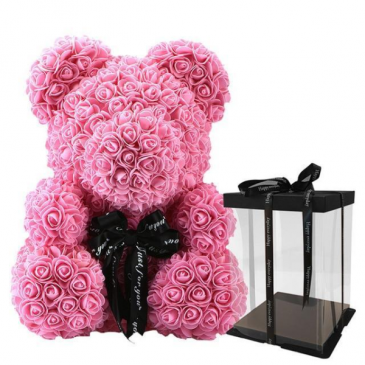 Rose Teddy Bear - Pink