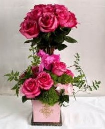 "Rose Topiary  Stunning Bright Pink Roses ""Other colors available upon request"""