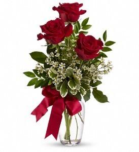 Three LS Rose Vase Rose Bouquet