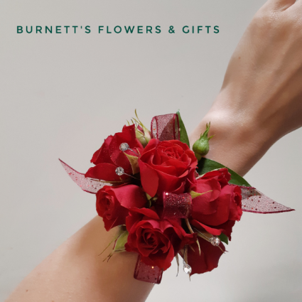 Rose Wrist Corsage with bling Wrist Corsage