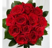 Roses DOZ.RED ROSE BOUQ.with filler add $10.00