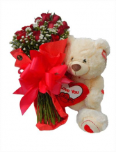 Roses and Bear