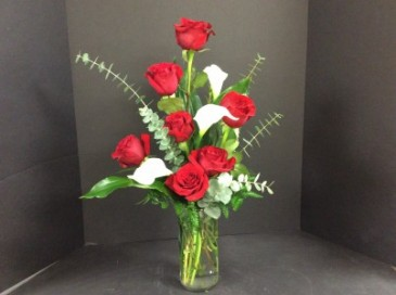 Roses and Callas Arrangement