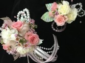 Roses and carnation Wristlet & Bout Prom