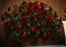Roses And Carnations Sympathy / Casket Spray