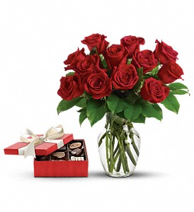 Roses and Chocolates Arrangement in Prince George, BC | MRS FLOWERS FRESH FLOWERS & GIFTS