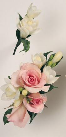 Roses and Freesia
