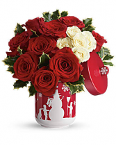 """Roses And Holly T16X310 12""""(w) x 12.5""""(h) ONE SIDED"""