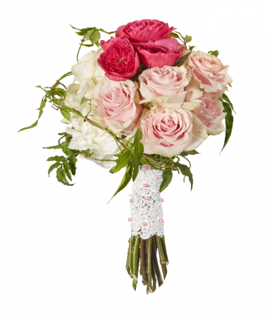 Roses and Lace Bouquet Wedding Bouquet