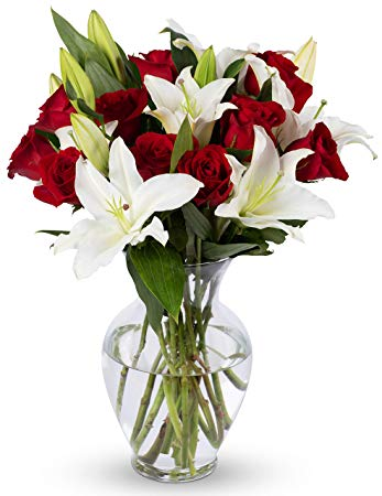 Roses and Lilies Arrangement