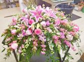 Roses and Lilies Casket Spray