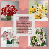 Roses and Lilies Chasing Lilies Designer Choice