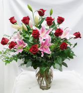 Roses and Lilies Fresh Floral Design