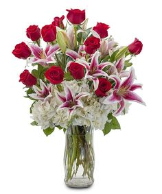 roses and lily bouquet