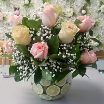 Roses and limes Vase