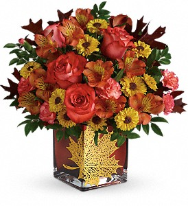 Roses and Maples  Floral Bouquet