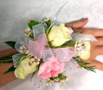 Roses and Mixed flower Corsage Wrist Corsage