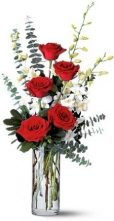 Roses and Orchids Splendor Rose Arrangement