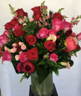 Roses and Peonies Arrangement  in Wilton Manors, Florida | WILTON MANORS FLOWERS