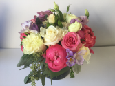 Roses and Peonies With Freesia