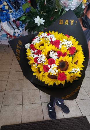 Roses and sunflowers #3 Roses and sunflowers #3