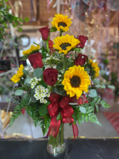 Roses and Sunflowers