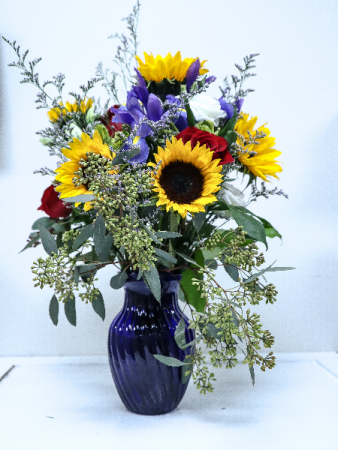 roses and sunflowers valentine