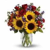 Roses and Sunflowers  Vase arrangements