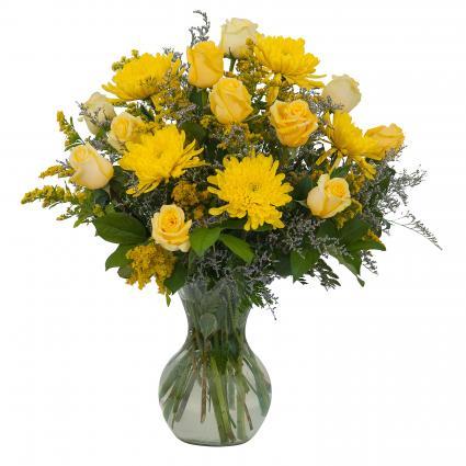 Roses and Sunshine Arrangement
