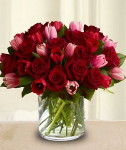 Roses And Tulips Mix For Valentine S