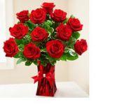 ROSES ARE RED Vase Arrangement