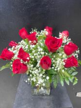 Dz short stem red roses