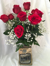 Roses Arranged Plus Sponge Candy