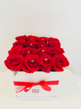 Roses arrangement box