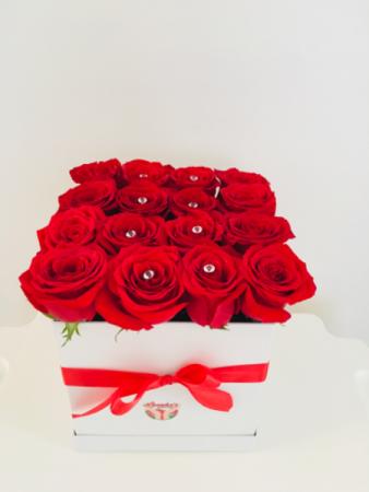 Roses arrangement box