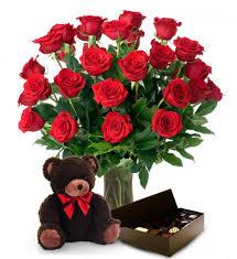 2 Dz Roses, Bear & Chocolates Gift Item