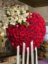 Red Rose bleeding heart  Arrangement