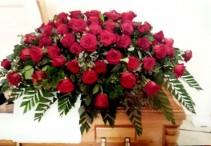 Roses Bouquet Casket Spray