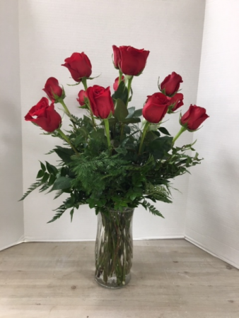 Roses by the dozen! Arrangement