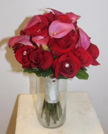 Roses & Calla Lilies Bridal Bouquet