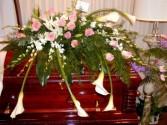 Roses & Calla Lilies Casket Spray