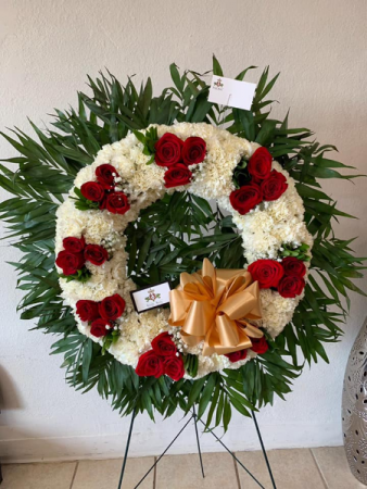 Roses & Carnation Wreath Large Wreath Circle