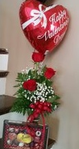 Roses, Chocolate, & Balloon  Package