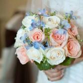 Roses & Delphinium Bouquet