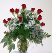 Roses Delux Clear Glass Vase