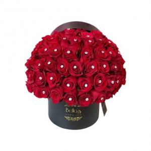 50 Roses & 50 Diamonds  in Bronx, NY | Bella's Flower Shop