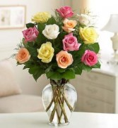 Colored Roses  Arrangement