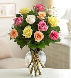 Colored Roses  Arrangement