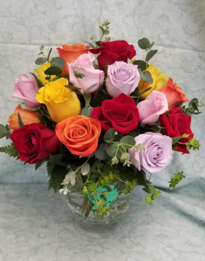 Roses for MOM Fresh Vase in Fulton, NY | DeVine Designs By Gail